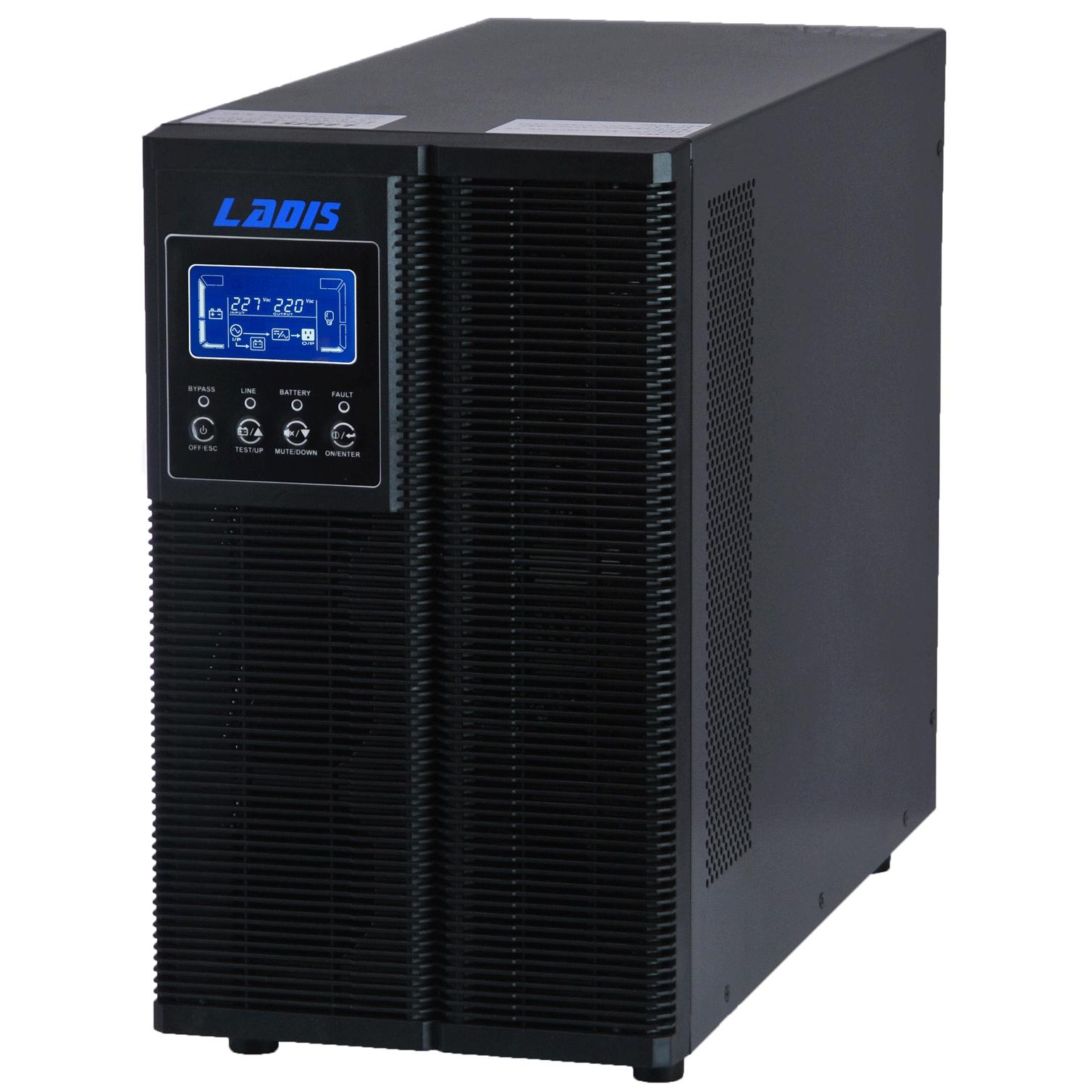 真正实现在线双转换 微处理器控制确保高可靠性 输入功率因素校正 输出功率因素可达0.8 宽市点输入范围(110V300V) 高效的变频转换模式 ECO 模式提供节能效果 液晶显示屏,所以运行参数一目了然 自带RS232/USB接口和电脑通讯,实现无人值守自动开关机 选配SNMP卡,实现远程智能控制